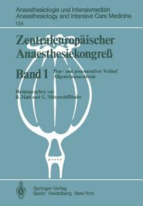 Zentraleurop  ischer Anaesthesiekongre