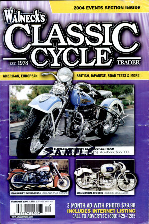 WALNECK S CLASSIC CYCLE TRADER  FEBRUARY 2004