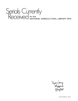 Serials Currently Received by the National Agricultural Library  a Keyword Index PDF