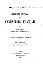 Bibliothèque Nationale: Catalogue général des manuscrits français Ancien supplément français, Volume1