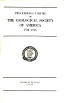 Proceedings of the Geological Society of America for