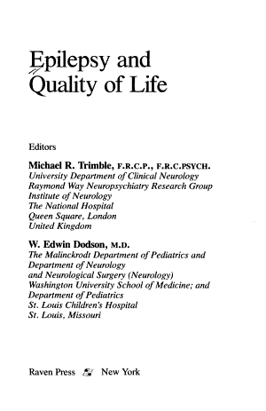 Epilepsy and Quality of Life
