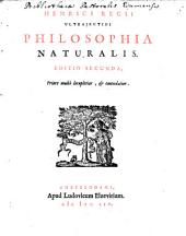 Henrici Regii Ultrajectini Philosophia naturalis