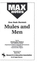 Mules and Men (MAXNotes Literature Guides)