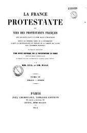 La France protestante, ou vies des protestants français, qui se sont fait un nom dans l'histoire