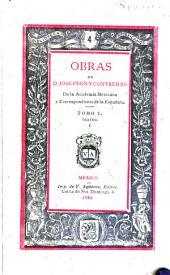 Obras de José Peón y Contreras: Volumen 1