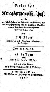 Beiträge zur Kriegsarzneiwissenschaft (etc.)