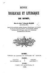 Revue basilicale et liturgique de Rome