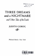 Three Dreams and a Nightmare, and Other Tales of the Dark