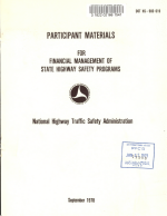 Participant Materials for Financial Management of State Highway Safety Programs PDF