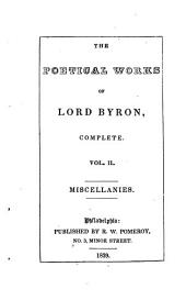 The Poetical Works of Lord Byron, Complete: Volume 2