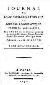 Journal de l'Assemblée nationale, ou Journal logographique: Première legislature, Volume14