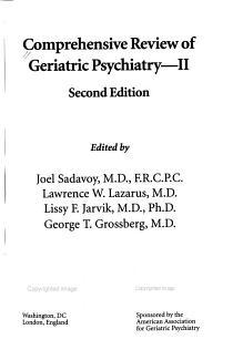 Comprehensive Review of Geriatric Psychiatry  II PDF