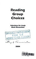 Reading Group Choices 2004 PDF