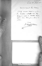 Lettre à Pr. Claeys