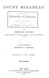 Count Mirabeau: An Historical Novel