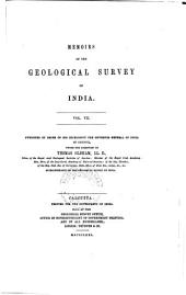 Memoirs of the Geological Survey of India Vol. VII