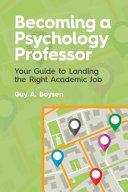Becoming a Psychology Professor