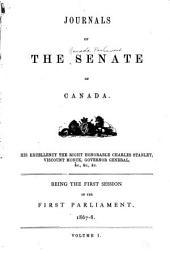 Journaux Du Sénat Du Canada: Volume 1