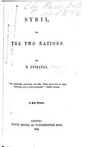 Sybil  Or  The Two Nations Book
