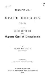 Pennsylvania State Reports: Volume 164