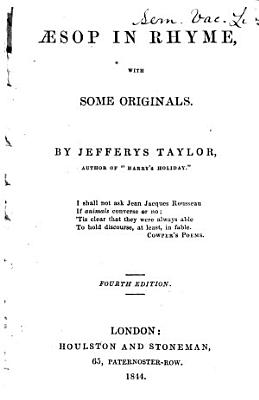 sop in rhyme  with some originals  by J  Taylor