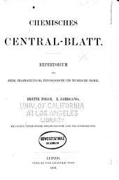 Chemisches Zentralblatt: Vollständiges Repertorium für alle Zweige der Reinen und angewandten Chemie, Band 50,Ausgaben 1-52