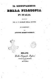 Il rinnovamento della filosofia in Italia: Proposto dal C. T. Mamiani della Rovere