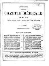 Gazette médicale de Paris: Volume32,Numéros1à51