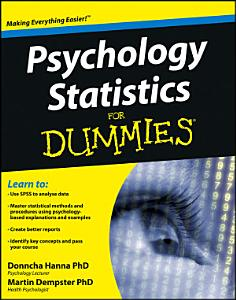 Psychology Statistics For Dummies Book
