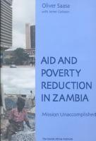 Aid and Poverty Reduction in Zambia PDF