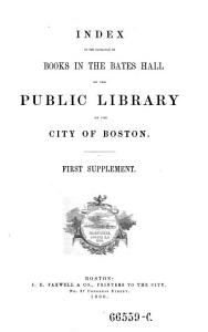 Index to the catalogue of books in the upper hall of the public library of the city of Boston PDF