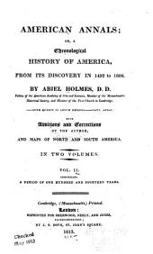 American annals: or, A chronological history of America, from its discovery in 1492 to 1806, Volume 2