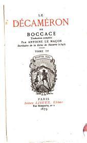 Le Décaméron de Boccace: Volumes4à6