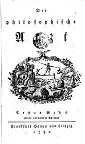 Der philosophische Arzt. 2. verm. Aufl: Band 1