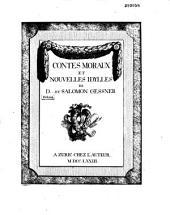 Contes moraux et nouvelles idylles de D... [Diderot] et Salomon Gessner