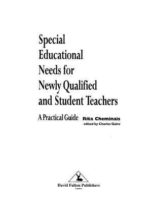 Special Educational Needs for Newly Qualified and Student Teachers PDF