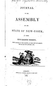 Journal of the Assembly of the State of New York: Volume 58