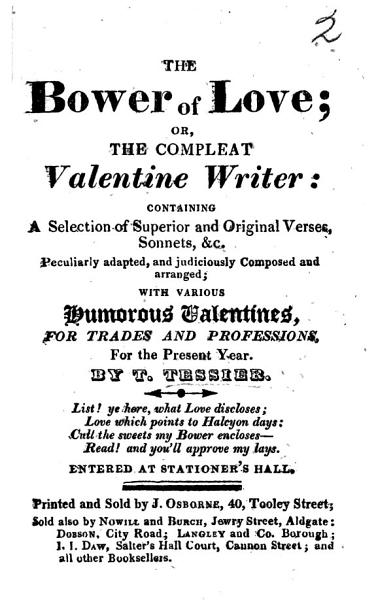 Download The Bower of Love  Or  the Compleat Valentine Writer  Etc Book