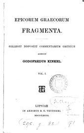Epicorum graecorum fragmenta: Volume 1