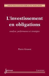 L'investissement en obligations