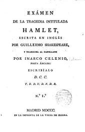 """Exámen de la tragedia intitulada """"Hamlet"""""""