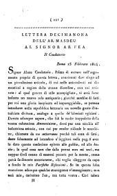 Lettera decimanona dell'ab. Masdeu al signor ab. Fea. Il caudatario ..
