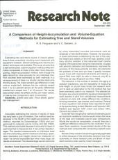A comparison of height-accumulation and volume-equation methods for estimating tree and stand volumes