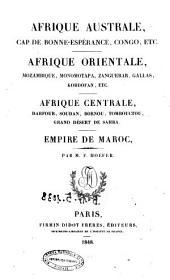 Afrique australe, Cap de Bonne-Esperance, Congo etc. par M. F. Hoefer