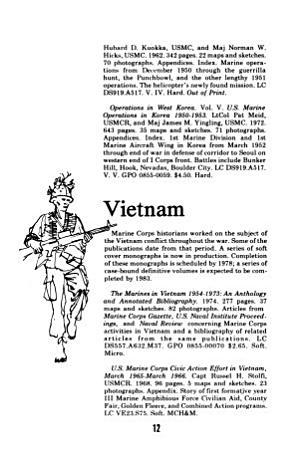 Marine Corps Historical Publications Catalog  1975 PDF