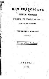 Don Chisciotte della Mancia poema epico burlesco scritto ed annotato da Vincenzio Moreno