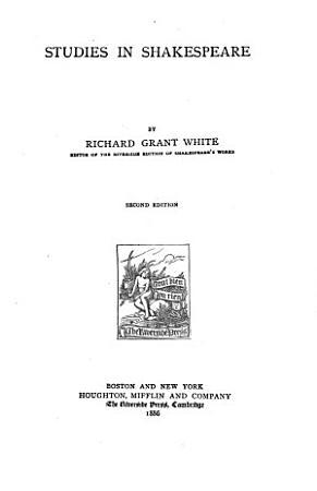 Studies in Shakespeare PDF