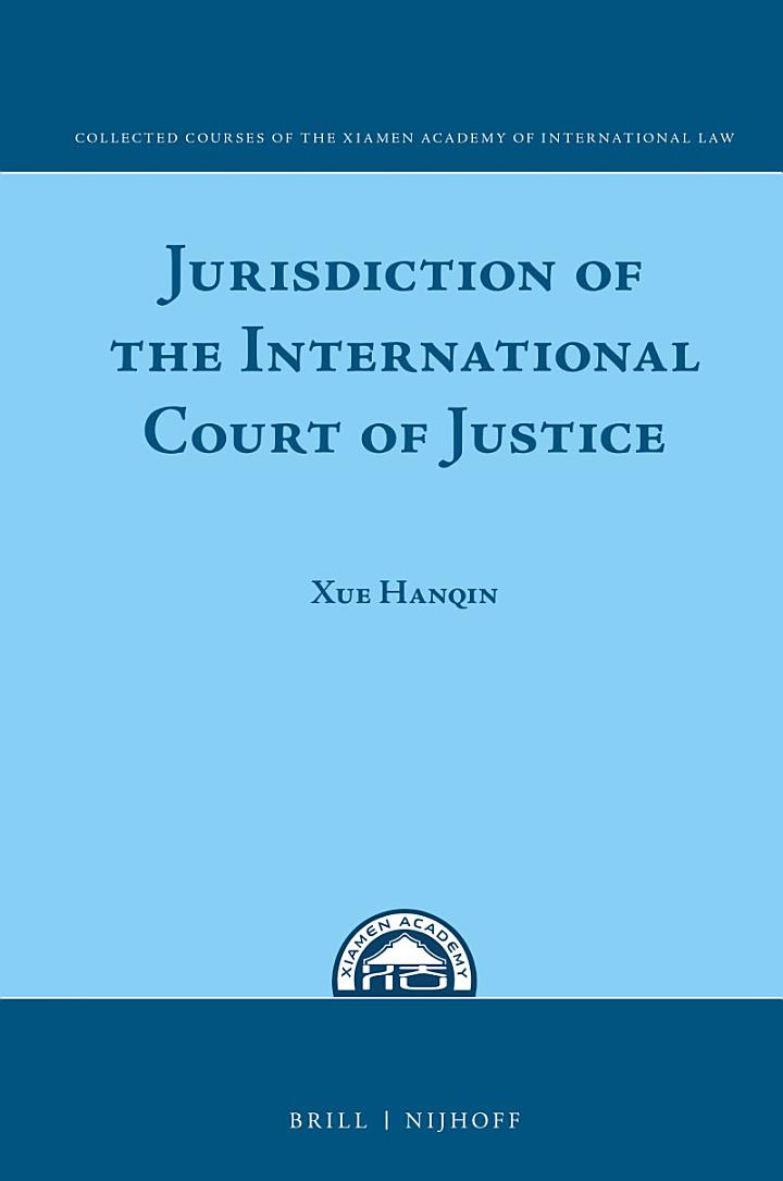 Jurisdiction of the International Court of Justice