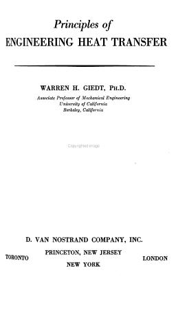Principles of Engineering Heat Transfer PDF